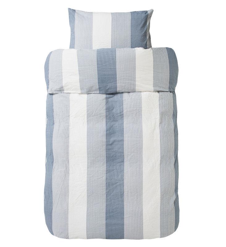 høie sengetøj Sengetøj 140x200 cm : Krepp sengetøj fra HØIE   KARL BLÅ 200 høie sengetøj