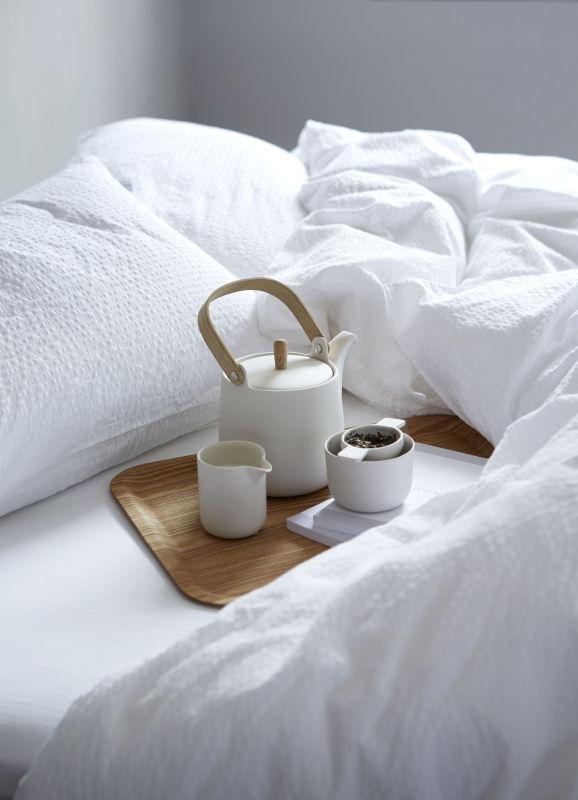 Splinternye Sengetøj 140x220 cm : Krepp sengetøj fra HØIE - PURE HVID 220 VY-49