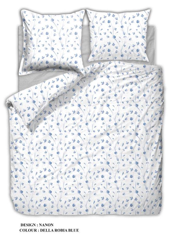 flonel sengetøj Sengetøj 140x200 cm : Flonel sengetøj fra Engholm   NANON BLUE 200 flonel sengetøj