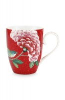 Blushing birds red large mug