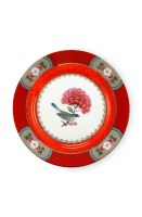 Blushing birds red plate 17 cm