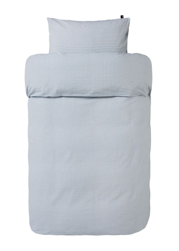høie sengetøj Sengetøj 140x200 cm : Krepp sengetøj fra HØIE   SLUMRE LYS BLÅ 200 høie sengetøj